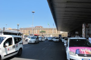 Rome Taxi Stand in front of Roma Termini