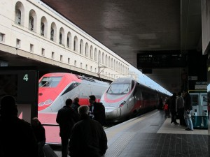 Trains in Roma Termini station