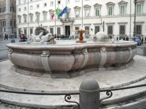 Piazza Colonna Fountain Rome