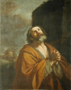 Saint Peter Crying by Guercino
